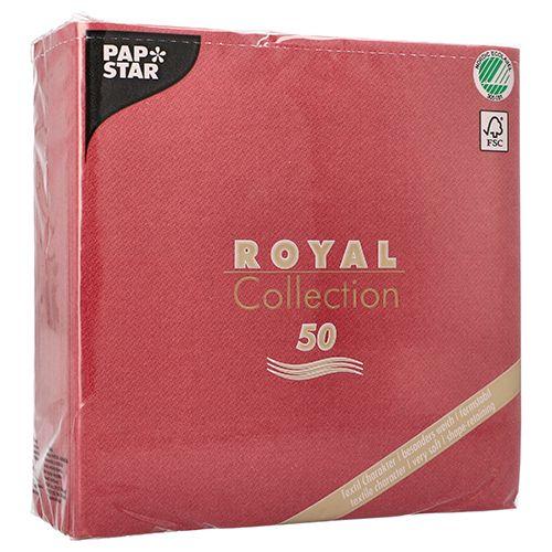 papstar 50 servietten royal collection 1 4 falz 40cm x 40cm bordeaux 11608 g nstig kaufen. Black Bedroom Furniture Sets. Home Design Ideas