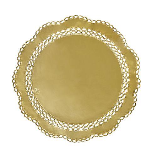gold Ø 36 cm 100 Deko-Tortenspitzen rund