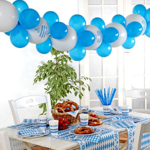 papstar ballongirlande 2m blau weiss oktoberfest 84527 g nstig kaufen. Black Bedroom Furniture Sets. Home Design Ideas