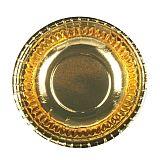 Papstar Schalen, Pappe rund Ø 16,5 cm, 2,9 cm gold, 10638, 96 Stück
