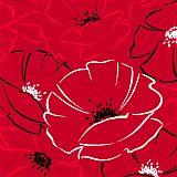 Servietten, 3-lagig 1/4-Falz 40 cm x 40 cm Red Passion, Papstar (10742), 200 Stück