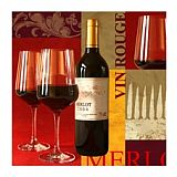 Servietten, 3-lagig 1/4-Falz 25 cm x 25 cm Vin Rouge, Papstar (10747), 600 Stück