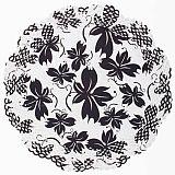 Papstar Tortenspitzen rund Ø 36 cm schwarz/weiss Lucille, 11007, 100 Stück