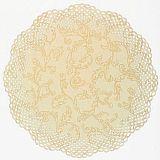Papstar Tortenspitzen rund Ø 36 cm chamois/gold Florina, 11011, 100 Stück