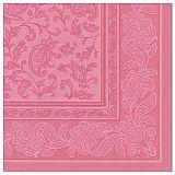 Servietten ROYAL Collection 1/4-Falz 40 cm x 40 cm rosa Ornaments, Papstar (11415)