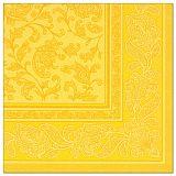 Servietten ROYAL Collection 1/4-Falz 40 cm x 40 cm gelb Ornaments, Papstar (11669)