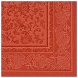 Servietten ROYAL Collection 1/4-Falz 40 cm x 40 cm terracotta Ornaments, Papstar (11680)