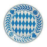 Teller, Pappe rund Ø 23 cm Bayrisch Blau, Papstar (11846)