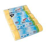 Müllsäcke zum Zuziehen, HDPE 60 l 71 cm x 64 cm gelb, Papstar (12435), 500 Stück