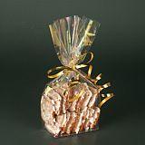 Bodenbeutel, PP 23,5 cm x 14,5 cm x 5,8 cm transparent Sterne, gold, Papstar (12493)