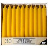 Tafelkerzen Ø 2,1 cm, 19,6 cm gelb, Papstar (13707)
