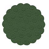 Tassen-Untersetzer rund Ø 9 cm dunkelgrün 9-lagig, Papstar (14241), 200 Stück