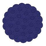 Tassen-Untersetzer rund Ø 9 cm dunkelblau 9-lagig, Papstar (14248), 200 Stück