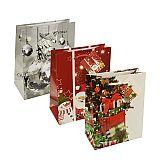 Lacktragetaschen, Mittel 23 cm x 18 cm x 10 cm Weihnachten, Papstar (14504), 50 Stück