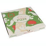 Pizzakartons, Cellulose pure eckig 28 cm x 28 cm x 3 cm, Papstar (15195), 100 Stück