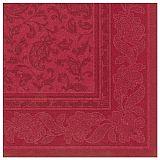Servietten ROYAL Collection 1/4-Falz 40 cm x 40 cm bordeaux Ornaments, Papstar (17052), 160 Stück