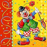 Servietten, 3-lagig 1/4-Falz 33 cm x 33 cm Clown, Papstar (17283), 300 Stück