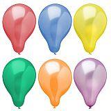 Luftballons Ø 25 cm farbig sortiert Metallic, Papstar (18678)