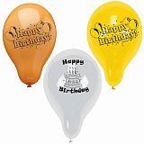 Luftballons Ø 22 cm farbig sortiert Happy Birthday, Papstar (18689), 150 Stück