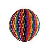 Wabenball Ø 60 cm Rainbow schwer entflammbar, Papstar (18993), 5 Stück