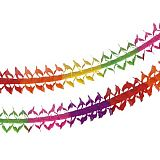 Girlande, Papier oval 4 m Rainbow, Papstar (19236), 10 Stück