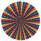 Dekofächer Ø 70 cm Rainbow, Papstar (19272), 10 Stück
