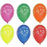 Luftballons Ø 29 cm farbig sortiert Happy Birthday, Papstar (19296), 120 Stück