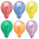 Luftballons Ø 25 cm farbig sortiert Metallic, Papstar (19342)