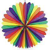 Dekofächer Ø 120 cm Rainbow schwer entflammbar, Papstar (19368)