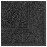 Servietten ROYAL Collection 1/4-Falz 40 cm x 40 cm schwarz Ornaments, Papstar (19828)