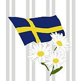 Servietten, 3-lagig 1/4-Falz 33 cm x 33 cm Swedish Flag, Papstar (49019), 300 Stück