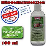 Hygienische Händedesinfektion mit Aloe Vera Desinfektionsmittel, DEXAN, 100 ml