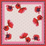 Mitteldecke, stoffähnlich, Airlaid 80 cm x 80 cm Poppy Flowers, Papstar (81069), 15 Stück