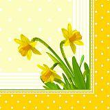 Papstar Servietten, 3-lagig 1/4-Falz 40 cm x 40 cm Daffodil, 81157, 400 Stück