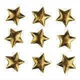 Deko-Accessoires Ø 30 mm gold Textile Stars, Papstar (81294), 200 Stück