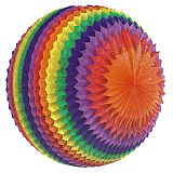 Streifenball Ø 70 cm Rainbow schwer entflammbar, Papstar (81312), 3 Stück