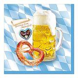 Servietten, 3-lagig 1/4-Falz 33 cm x 33 cm Bavaria, Papstar (81340)