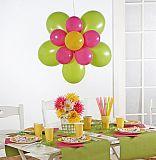Party-Deko-Sets Ø 70 cm farbig sortiert Flower, Papstar (81414), 16 Stück