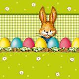 Servietten, 3-lagig 1/4-Falz 33 cm x 33 cm Hello Bunny, Papstar (81467), 300 Stück