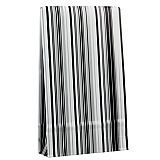 Geschenktaschen 33 cm x 20 cm x 6,5 cm Stripes black&white groß, Papstar (81497), 200 Stück