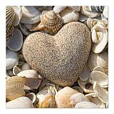Servietten, 3-lagig 1/4-Falz 33 cm x 33 cm Stone Heart, Papstar (81565), 180 Stück