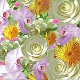 Servietten, 3-lagig Design Edition 1/4-Falz 33 cm x 33 cm Springflowers, Papstar (81566), 180 Stück