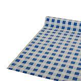 Tischdecke, Folie 50 m x 80 cm blau Karo, Papstar (81610), 6 Stück