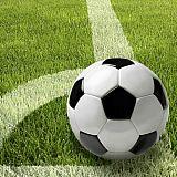 Servietten, 3-lagig 1/4-Falz 33 cm x 33 cm Football, Papstar (81628), 200 Stück