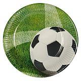 Teller, Pappe rund Ø 23 cm Football, Papstar (81637)