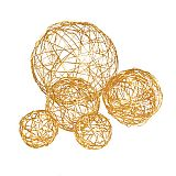 Deko-Kugeln aus Draht orange sortiert, Papstar (81688)