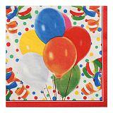 Servietten, 3-lagig 1/4-Falz 33 cm x 33 cm Lucky Balloons, Papstar (81709)