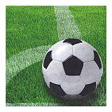 Servietten, 3-lagig 1/4-Falz 33 cm x 33 cm Football, Papstar (81730)