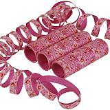 Luftschlangen 4 m pink Hearts and Butterflies, Papstar (81778), 30 Stück