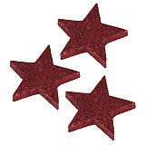 Deko-Accessoires Ø 60 mm, 9 mm rot Glitter Stars, Papstar (81811), 96 Stück